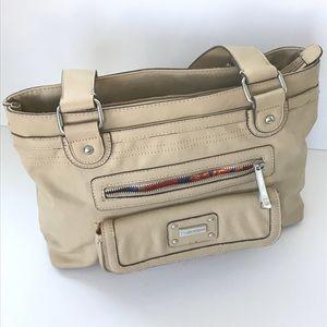 Tyler Rodan light tan vegan leather shoulder bag